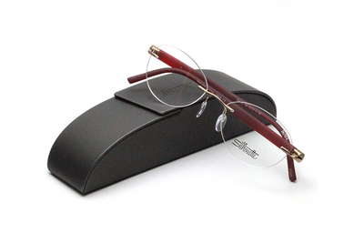 薄型レンズ付メガネセット Silhouette INSPIRE インスパイア 5506-7531 ボルドー/マットゴールド