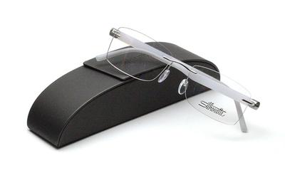 薄型レンズ付メガネセット Silhouette INSPIRE インスパイア 5506-7007 ブルーホワイト/シルバー