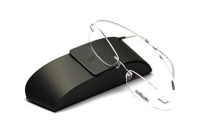 薄型レンズ付メガネセット Silhouette ESSENCE エッセンス 5523-7002 シルキーホワイト【男女兼用】【メンテナンスフリー】【超軽量リムレス】