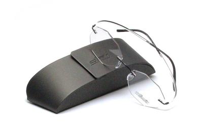 薄型レンズ付メガネセット Silhouette ESSENCE エッセンス 5523-9046 ブラックスピリット【男女兼用】【メンテナンスフリー】【超軽量リムレス】