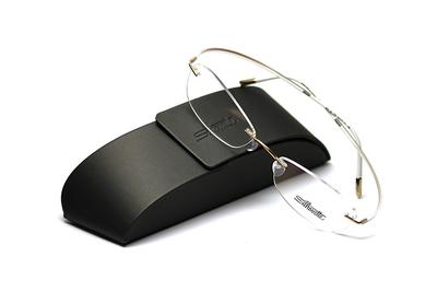 薄型レンズ付メガネセット Silhouette ESSENCE エッセンス 5523-7732 ゴールド【男女兼用】【メンテナンスフリー】【超軽量リムレス】