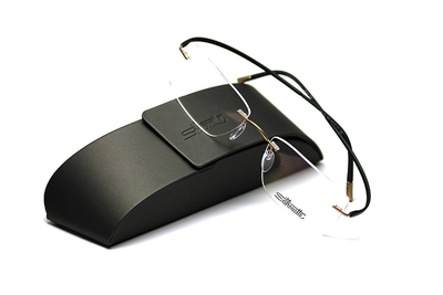 薄型レンズ付メガネセット Silhouette ESSENCE エッセンス 5523-7632 ブラック【男女兼用】【メンテナンスフリー】【超軽量リムレス】