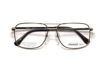 薄型レンズ付メガネセット オーソドックス紳士モデル ツーブリッジ プリンス 3543-GP(ゴールド) 52サイズ