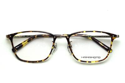 薄型レンズ付メガネセット Hamamoto ハマモト HT 331-2 デミ/ゴールド【男女兼用】【日本製】【フルリム】