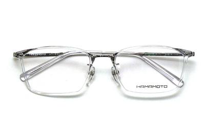 薄型レンズ付メガネセット Hamamoto ハマモト HT 332-4 クリアー/シルバー【男女兼用】【日本製】【フルリム】