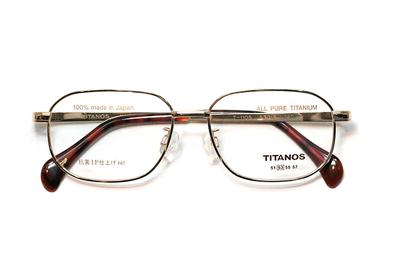マルマン TITANOS チタノス T 1105-CGP ゴールド【メンズ】【男性用】【日本製】【ピュアチタン】
