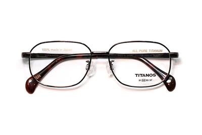 マルマン TITANOS チタノス T 1105-CV5 ブラウン【メンズ】【男性用】【日本製】【ピュアチタン】