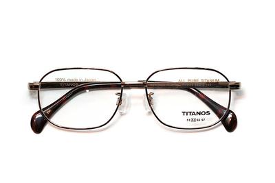 マルマン TITANOS チタノス T 1105-CV1 ライトブラウン)【メンズ】【男性用】【日本製】【ピュアチタン】