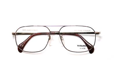 マルマン TITANOS(チタノス) T1139-CV1 ブラウン ベーシックなツーブリ【メンズ】【男性用】【日本製】【ピュアチタン】