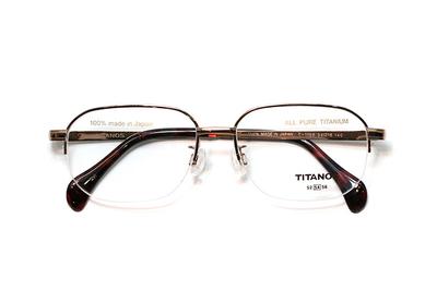 マルマン TITANOS チタノスT 1188-CV1 ライトブラウン【メンズ】【男性用】【日本製】【ピュアチタン】