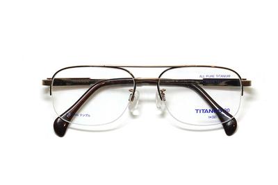 マルマン TITANOS30(チタノス30) T 3124-CV1(ライトブラウン)【メンズ】【男性用】【日本製】【ピュアチタン】