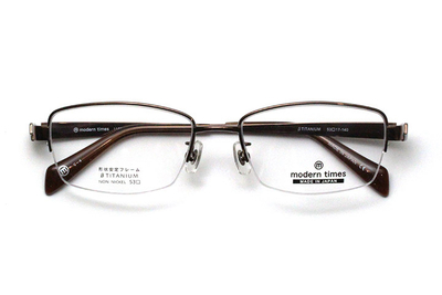 薄型レンズ付メガネセット ModernTimes MT 1152-4 コパーブラウン【メンズ】【男性用】【日本製】