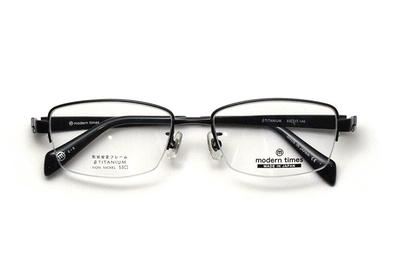 薄型レンズ付メガネセット ModernTimes MT 1152-3 ブラックマット【メンズ】【男性用】【日本製】