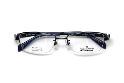 薄型レンズ付メガネセット ModernTimes MT 1152-2 ディープネイビー【メンズ】【男性用】【日本製】