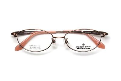 薄型レンズ付メガネセット ModernTimes MT 1153-3 ローズオレンジ【レディース】【女性用】【日本製】