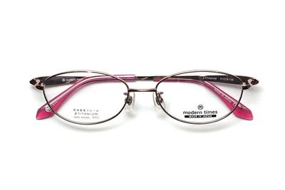 薄型レンズ付メガネセット ModernTimes MT 1153-1 フローラルピンク【レディース】【女性用】【日本製】