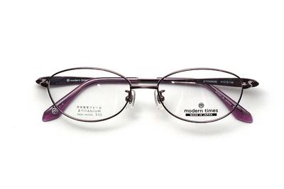 薄型レンズ付メガネセット ModernTimes MT 1153-5 ライトパープル【レディース】【女性用】【日本製】