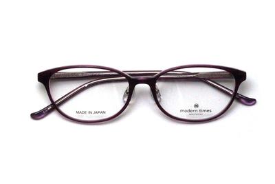薄型レンズ付メガネセット ModernTimes MT 8020-3 パープルササ【ユニセックス】【男女兼用】【アセテート】【日本製】
