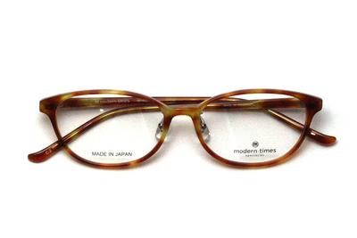 薄型レンズ付メガネセット ModernTimes MT 8020-2 ライトブラウンデミ【ユニセックス】【男女兼用】【アセテート】【日本製】