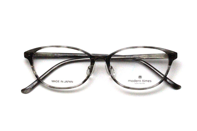 薄型レンズ付メガネセット ModernTimes MT 8020-1 グレーササ【ユニセックス】【男女兼用】【アセテート】【日本製】