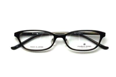 薄型レンズ付メガネセット ModernTimes MT 8021-4 ブラックベージュ【ユニセックス】【男女兼用】【アセテート】【日本製】