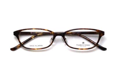 薄型レンズ付メガネセット ModernTimes MT 8021-2 デミ【ユニセックス】【男女兼用】【アセテート】【日本製】