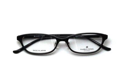 薄型レンズ付メガネセット ModernTimes MT 8021-1 ブラック【ユニセックス】【男女兼用】【アセテート】【日本製】