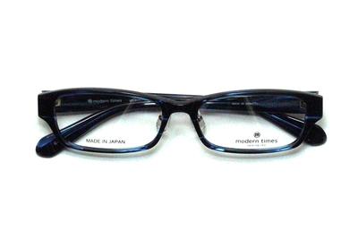 薄型レンズ付メガネセット ModernTimes MT 8022-4 ブルーササ【ユニセックス】【男女兼用】【アセテート】【日本製】