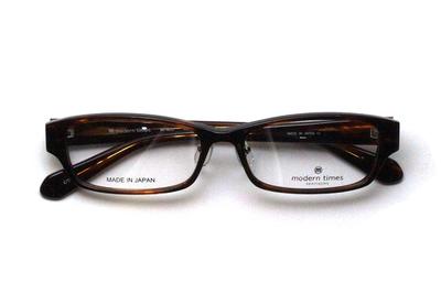 薄型レンズ付メガネセット ModernTimes MT 8022-2 ブラウンササ【ユニセックス】【男女兼用】【アセテート】【日本製】
