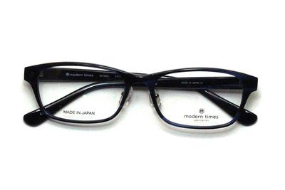 薄型レンズ付メガネセット ModernTimes MT 8023-4 ブルーササ【ユニセックス】【男女兼用】【アセテート】【日本製】