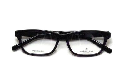 薄型レンズ付メガネセット ModernTimes MT 8024-3 パープル/ブラック【ユニセックス】【男女兼用】【アセテート】【日本製】