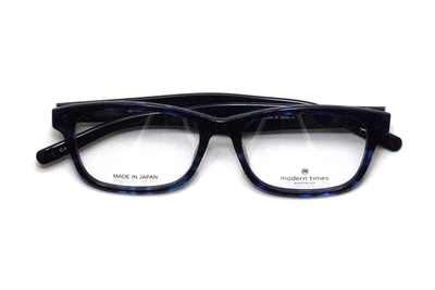薄型レンズ付メガネセット ModernTimes MT 8024-4 ブルーデミ/ブルー【ユニセックス】【男女兼用】【アセテート】【日本製】