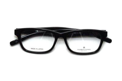 薄型レンズ付メガネセット ModernTimes MT 8024-1 ブラック【ユニセックス】【男女兼用】【アセテート】【日本製】