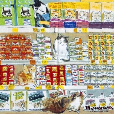 マンハッタナーズ メガネ拭き MX300MAN MAN 10【猫を主人公としたアート】【ワイピングクロス】【日本製】【ネコポス発送可】
