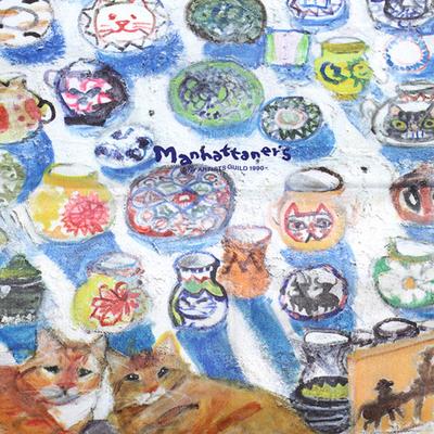 マンハッタナーズ メガネ拭き MX300MAN MAN 28【猫を主人公としたアート】【ワイピングクロス】【日本製】【ネコポス発送可】