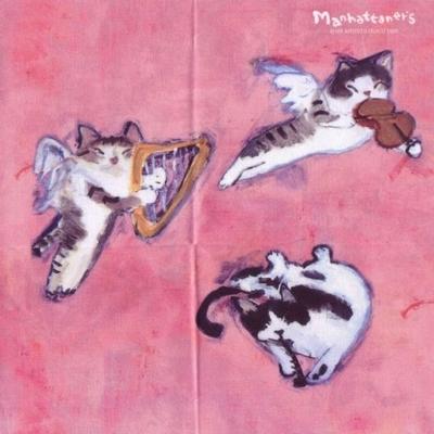 マンハッタナーズ メガネ拭き MX300MAN MAN 25【猫を主人公としたアート】【ワイピングクロス】【日本製】【ネコポス発送可】