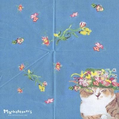 マンハッタナーズ メガネ拭き MX300MAN MAN 24【猫を主人公としたアート】【ワイピングクロス】【日本製】【ネコポス発送可】