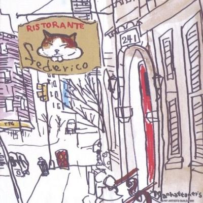 マンハッタナーズ メガネ拭き MX300MAN MAN 19【猫を主人公としたアート】【ワイピングクロス】【日本製】【ネコポス発送可】