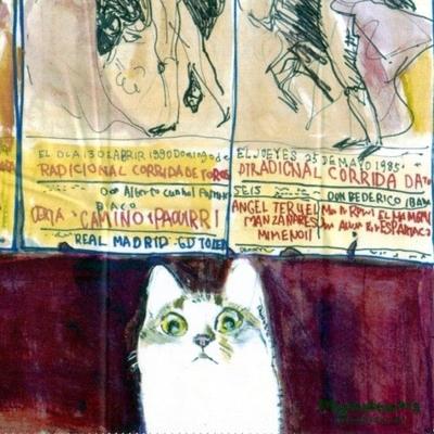 マンハッタナーズ メガネ拭き MX300MAN MAN 14【猫を主人公としたアート】【ワイピングクロス】【日本製】【ネコポス発送可】