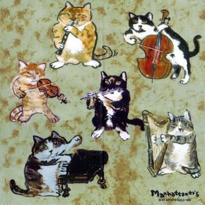 マンハッタナーズ メガネ拭き MX300MAN MAN 11【猫を主人公としたアート】【ワイピングクロス】【日本製】【ネコポス発送可】