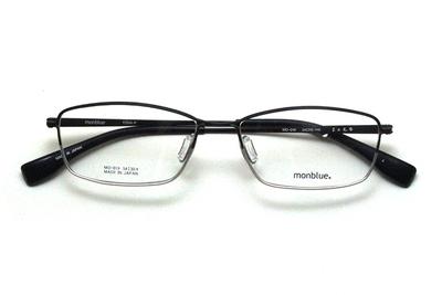 薄型レンズ付メガネセット monblue モンブルー MO 019-4 ブラックマットハーフ【ユニセックス】【男女兼用】【日本製】【三工光学】【メタル】