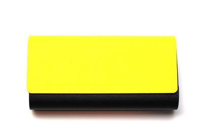 アルミレザー2本収納ケース 2401-03 イエロー/ブラック
