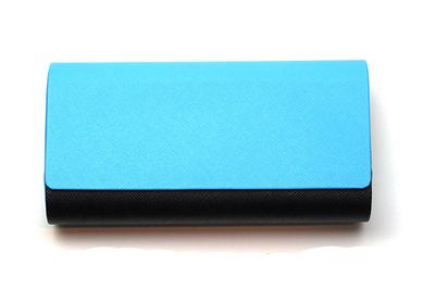 アルミレザー2本収納ケース 2401-02 ブルー/ブラック