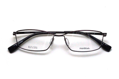薄型レンズ付メガネセット monblue モンブルー MO 019-8 ダークチェリー/ブラック【ユニセックス】【男女兼用】【日本製】【三工光学】【メタル】