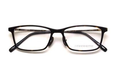 薄型レンズ付メガネセット Hamamoto ハマモト HT 568-2 デミ×クリアー/ゴールド【男女兼用】【日本製】【フルリム】