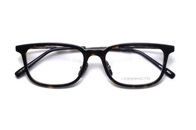 薄型レンズ付メガネセット Hamamoto ハマモト HT 569-2 デミ×クリアー/ゴールド【男女兼用】【日本製】【フルリム】