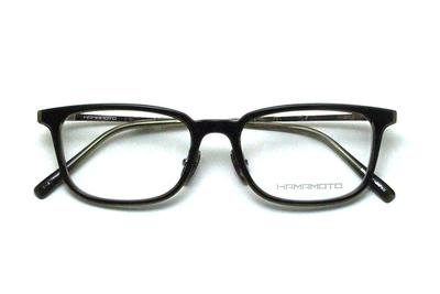 薄型レンズ付メガネセット Hamamoto ハマモト HT 569-4 カーキ×クリアー/ゴールド【男女兼用】【日本製】【フルリム】