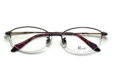 薄型レンズ付メガネセット Hamamoto H ハマモト エイチ H 1152-1 ワイン【レディース】【女性用】【日本製】【軽量フレーム】【ハーフリム】