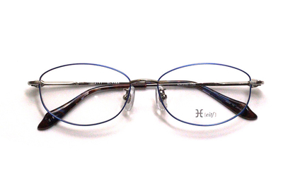 薄型レンズ付メガネセット Hamamoto H ハマモト エイチ H 1151-3 ブルー【レディース】【女性用】【日本製】【軽量フレーム】【フルリム】