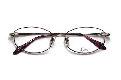 薄型レンズ付メガネセット Hamamoto H ハマモト エイチ H 1153-1 ワイン【レディース】【女性用】【日本製】【軽量フレーム】【フルリム】